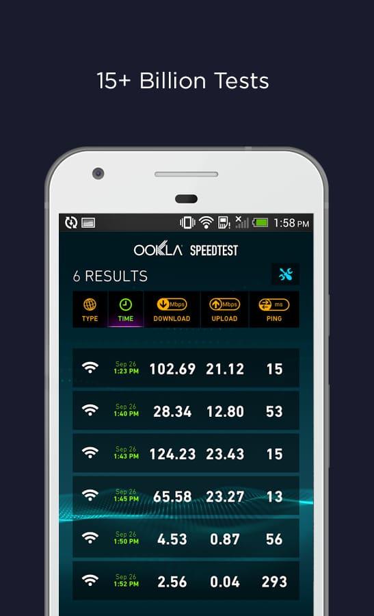 ویژگی های برنامه Speedtest by Ookla full