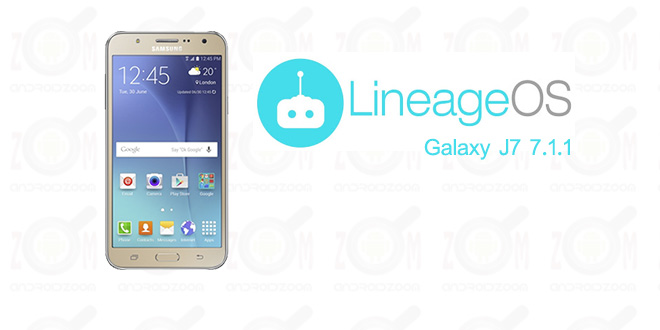custom rom LineageOS android nougat for galaxy j7