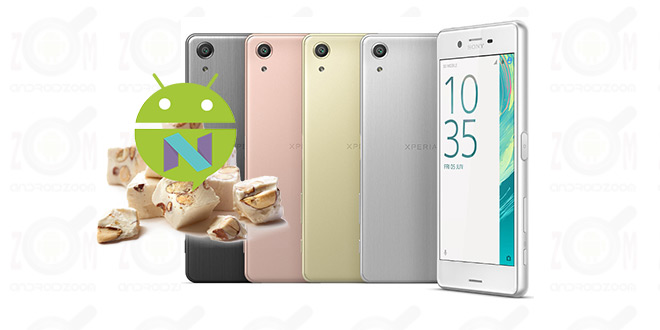sony xperia x f5121 nougat firmware