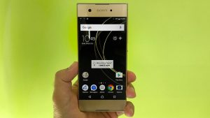 Sony Xperia XA1 design and build quality