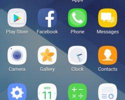 Galaxy A3 2017 UI