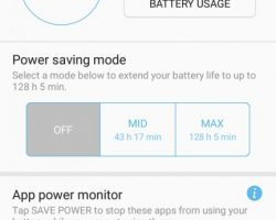 Galaxy A3 2017 Power Saving
