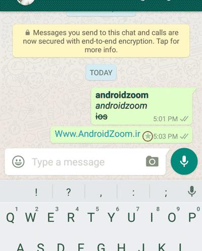 متن مارک شده در واتس اپ