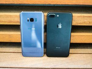 Galaxy S8+ vs. iPhone 7 Plus