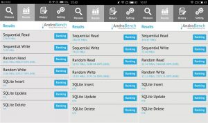 AndroBench 5 storage performance test