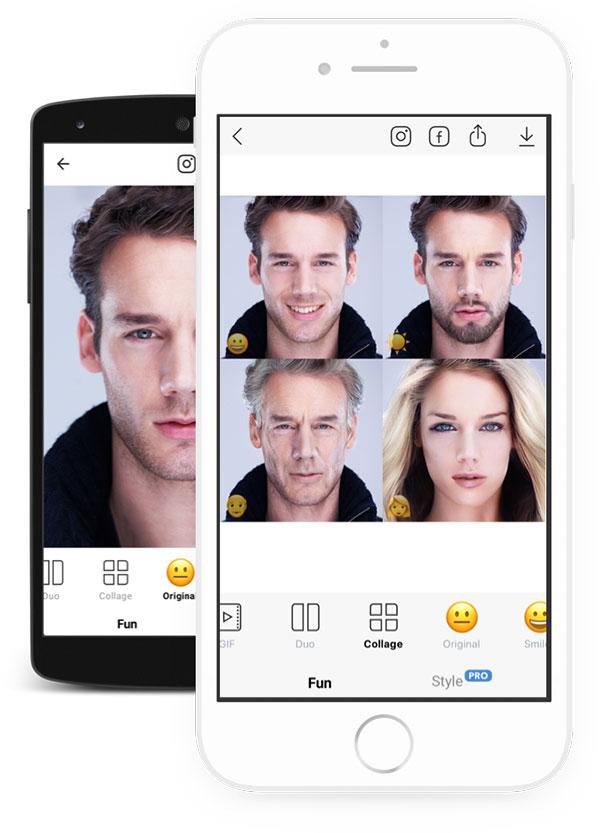 ظاهر برنامه FaceApp