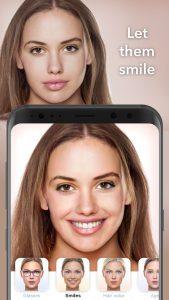 اضافه کردن لبخند به عکس در FaceApp