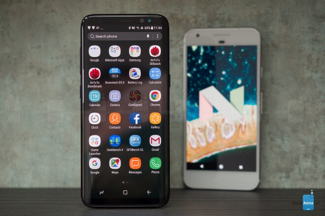 Samsung Galaxy S8 vs Google Pixel SoftWare