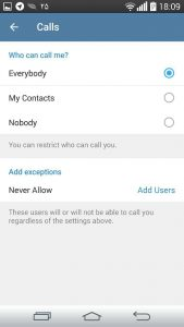 Telegram Voice Calls Privacy