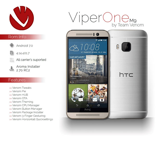 Custom rom for HTC M9
