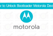 How to unlock Bootloader Motorola devices
