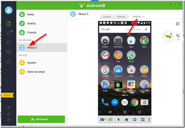 MIRROR ANDROID TO PC