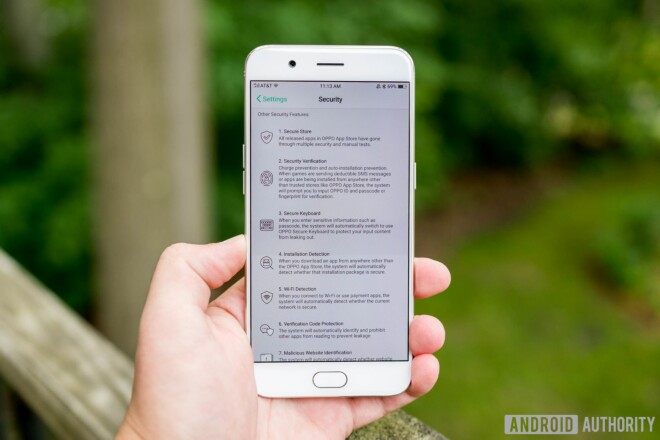 OPPO R11 Software and hardware