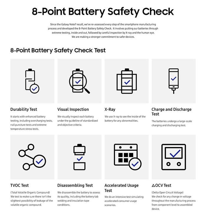 تست امنیتی باتری نوت 8