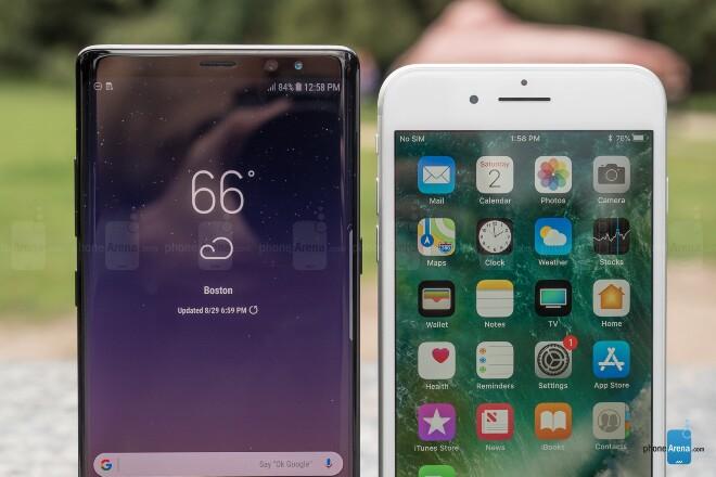 Samsung Galaxy Note 8 و Apple iPhone 7 Plus