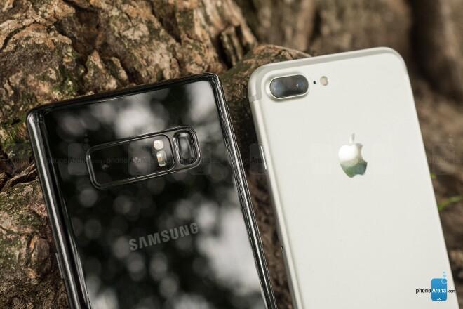 دوربین Samsung Galaxy Note 8 و Apple iPhone 7 Plus
