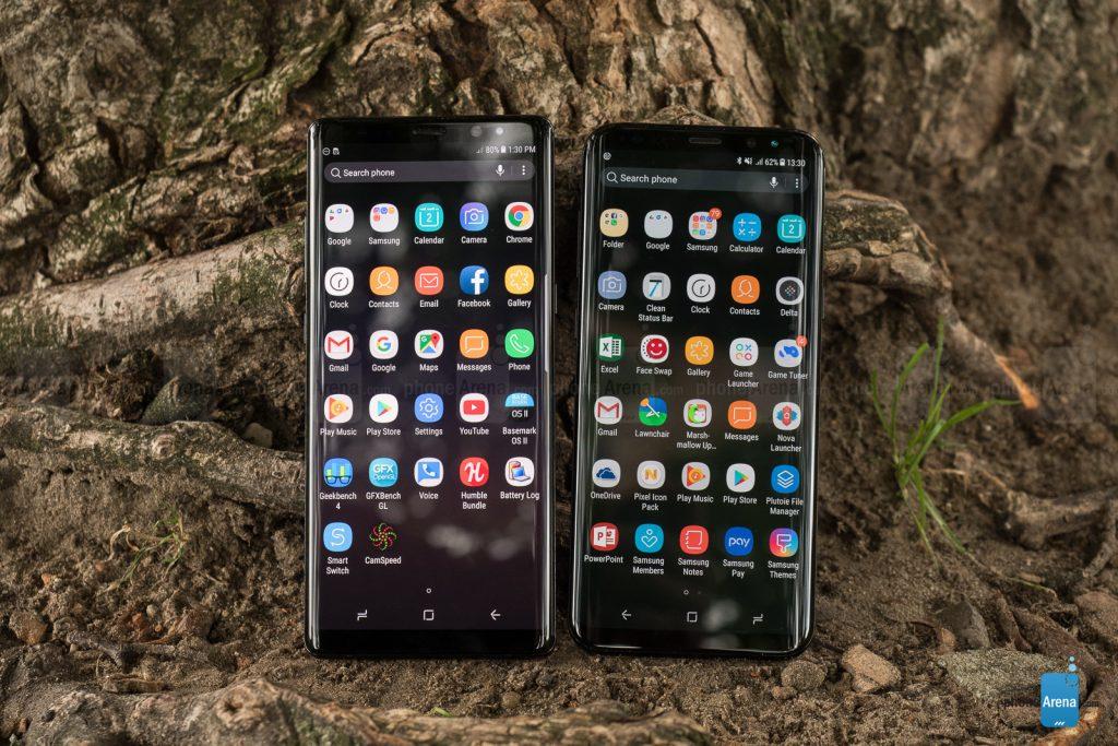 نرم افزار Galaxy S8 Plus و Galaxy Note 8