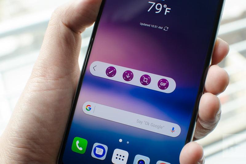 صفجه نمایش LG V30