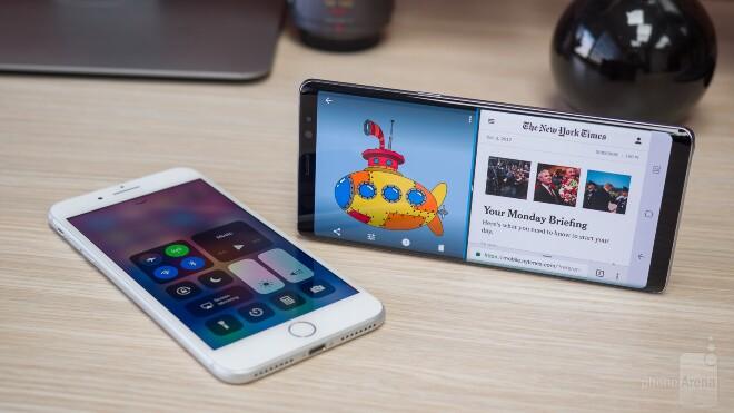 Note 8 vs Iphone 8 plus
