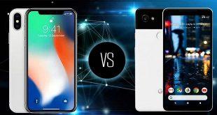 مقایسه گوشی های آیفون X و پیکسل 2 XL