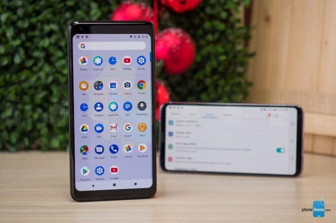 مقایسه نرم افزار و رابط کاربریGoogle Pixel 2 XL و LG V30