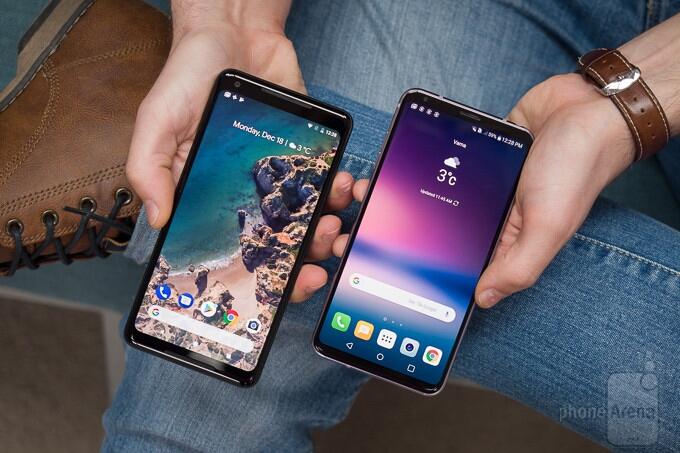 مقایسه گوشی های Google Pixel 2 XL و LG V30