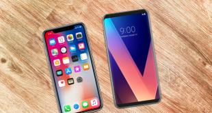 مقایسه گوشی های LG V30 و آیفون X