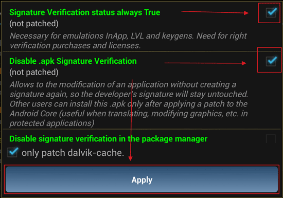 Apply Patch to Android