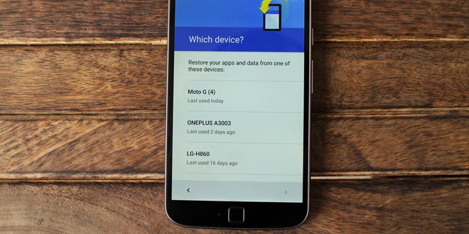 backup and restore in android
