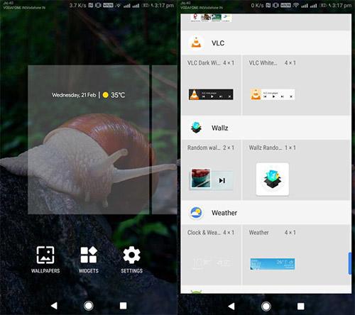 آموزش نصب ویجت ساعت و آب و هوای اکسپریا بروی دستگاههای اندرویدی
