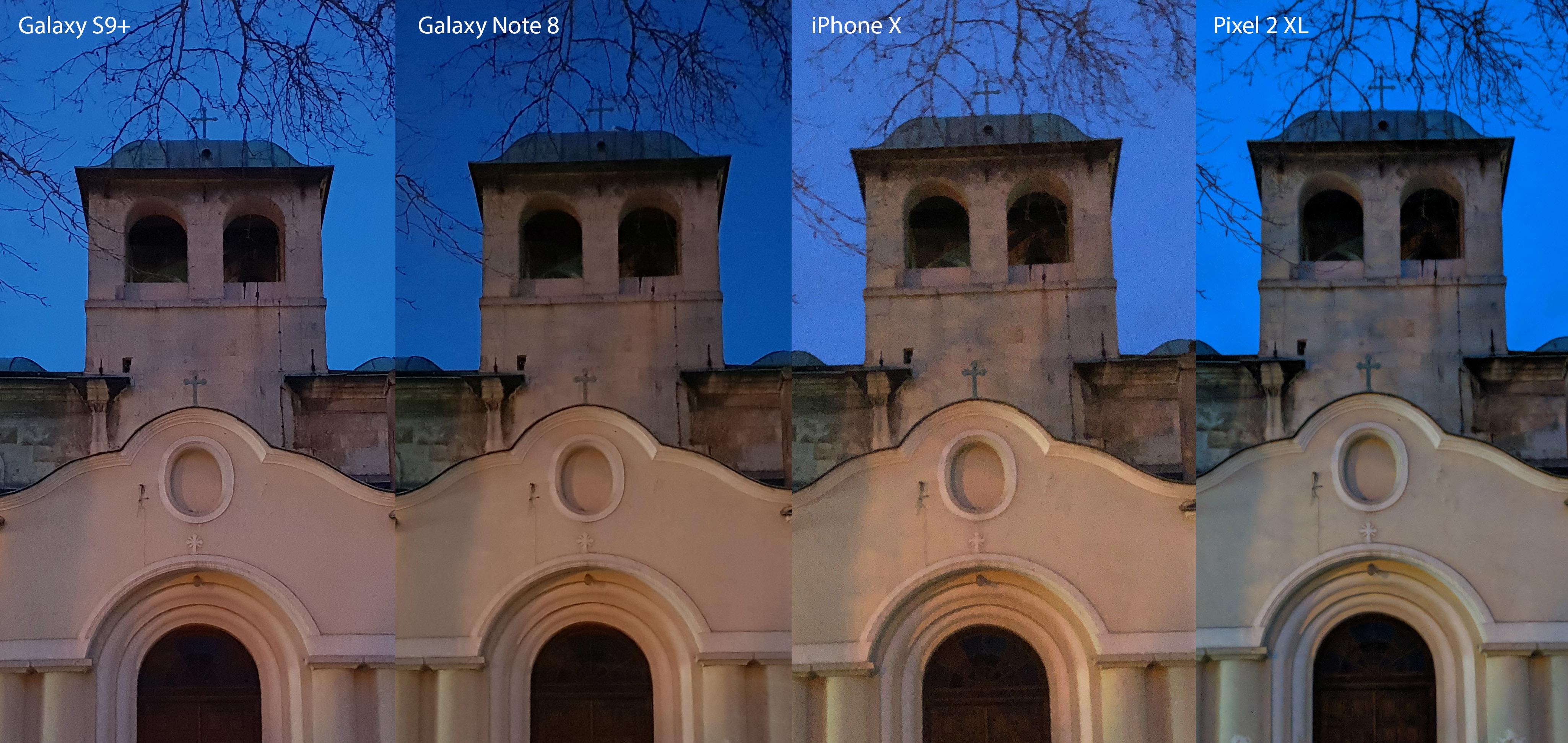 مقایسه عملکرد دوربین گوشی های +Samsung Galaxy S9 و iPhone X vs Pixel 2 XL و Galaxy Note 8