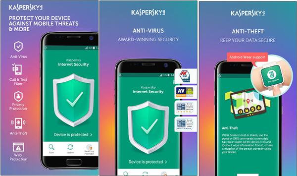 ضد ویروس اندرویدی Kaspersky