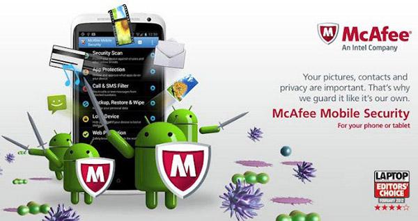 ضد ویروس اندرویدی McAfee Mobile Security & Lock