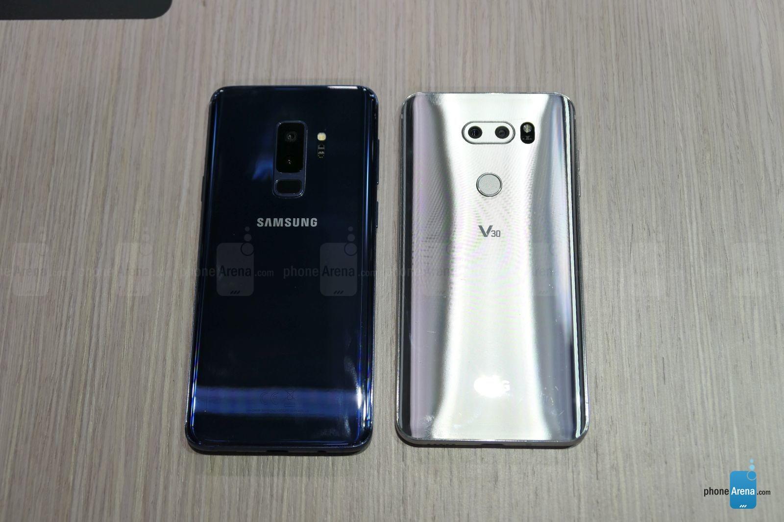 مقایسه گوشی های LG V30 و گلکسی اس 9 پلاس