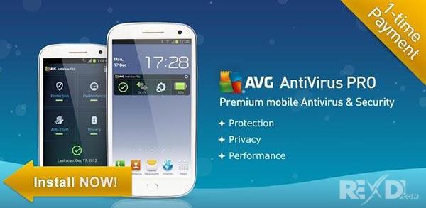 ضد ویروس اندرویدیAVG Mobilation Antivirus Pro