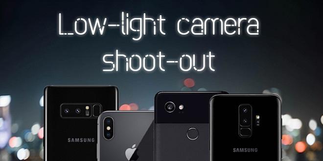 مقایسه عملکرد دوربین گوشی های +Galaxy S9 و iPhone X و Pixel 2 XL و Note 8