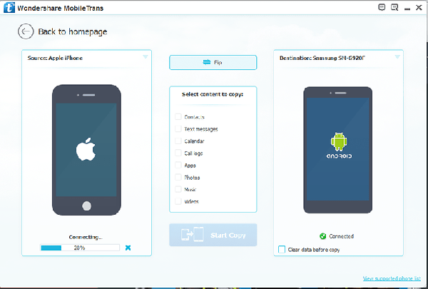 نرم افزارWondershare MobileTrans