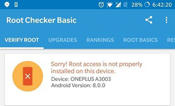 برنامه Root Checker