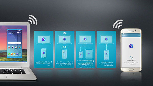 کنترل گوشی اندرویدی از طریق نرم افزارSideSync