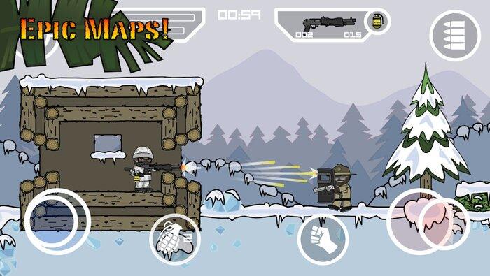دانلود Doodle Army 2 Mini Militia - دودل آرمی 2 اندروید