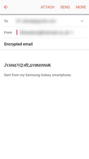 ارسال متن های کدگذاری شده