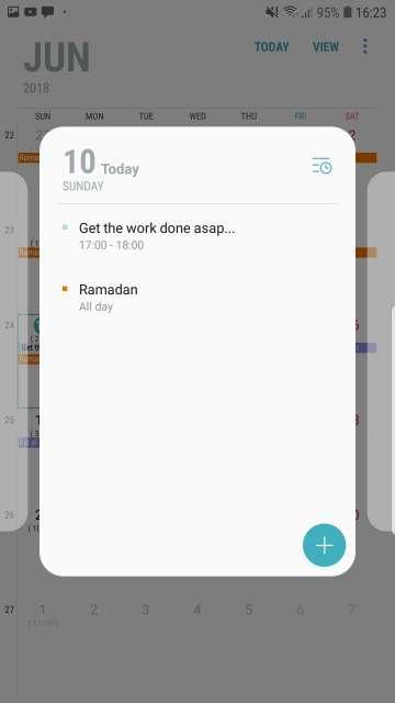 قرار دادن یادآور تقویم