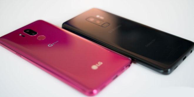 مقایسه گوشی های سامسونگ S9 Plus و ال جی G7 ThinQ