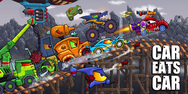 دانلود بازی مسابقه ای و ماشین سواری Car Eats Car 2 v2.0