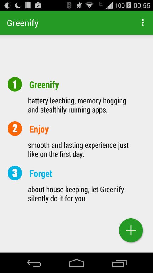 دانلود Greenify v4.1 – اپلیکیشن بهینه سازی عملکرد برنامه ها در اندروید + مود