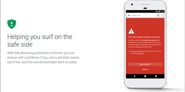 وب گردی امن توسط Play Protect