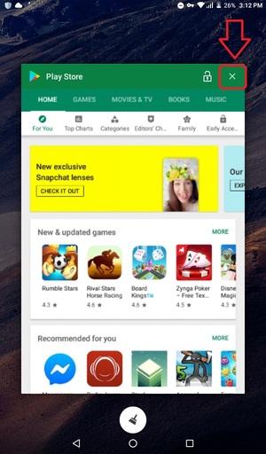 بستن گوگل پلی استور از تسک منیجر گوشی