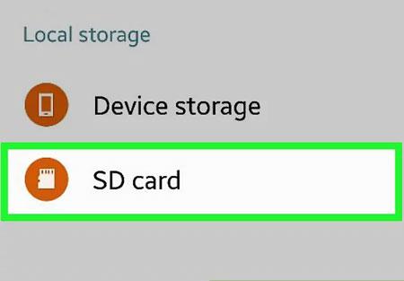 انتخاب SD Card