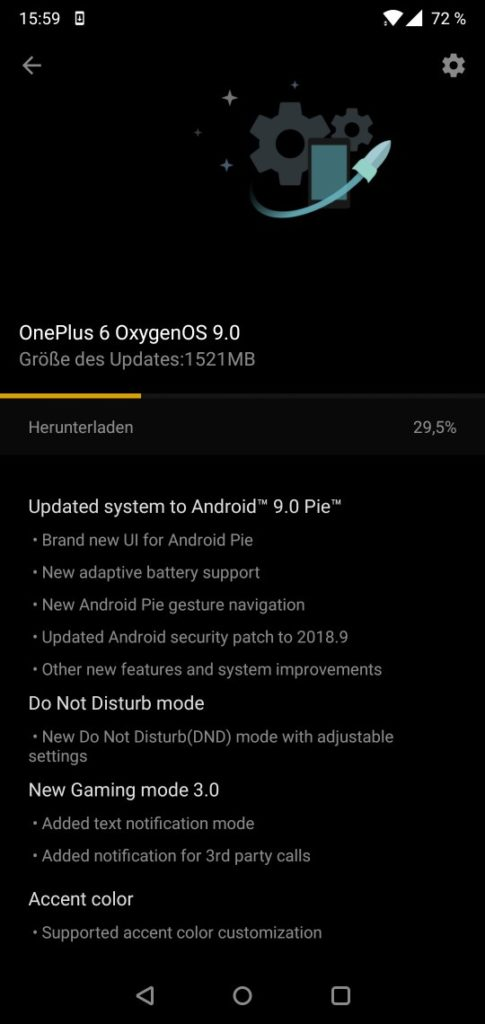 oneplus 6 android update