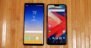 Galaxy Note 9 vs OnePlus 6